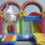 alquiler de inflable unicornio